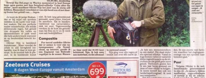 Artikel Telegraaf regen cd